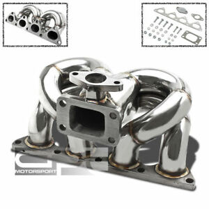 Civic B16 b18 Stainless Chrome T3 T3t4 Turbo Ram Horn Manifold wastegate Flange