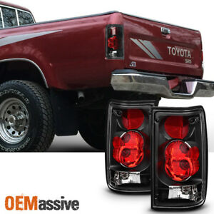Fits 1989 1990 1991 1992 1993 1994 1995 Toyota Pickup Lh Rh Black Taillight