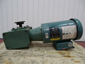 Baldor Vuhm3546 Electric Motor 1hp 1750rpm 3ph 56cfr W unbranded Reducer