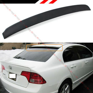 For 2006 15 Honda Civic 8th 9th Gen 4 Dr Sedan Jdm Rear Window Roof Top Spoiler