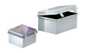 Bud Industries Nbb 10265 Style B Plastic Indoor Box With Clear Door 13 Leng