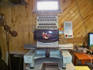 Phoenix 540 15 Needle Commercial Embroidery Machine With Ids Digitizing Software