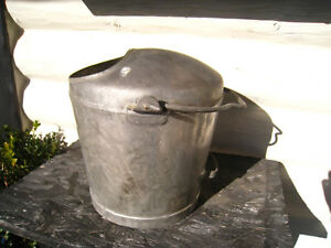 Unusual Vintage Milk Churn Bucket Garden Planter Heavy Galvanized Reduced
