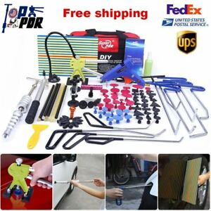 Paintless Dent Repair Dent Lifter Slide Hammer Push Rods Pdr Tools Removal Set