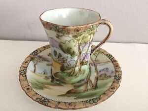 Hand Painted Artistic Japanese Tea Cup And Saucer Delicate Porcelain China