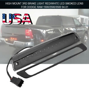 1994 2001 Dodge Ram 1500 2500 3500 Black Tail Lights Led 3rd Brake Cargo Light