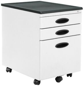 Offex Home Office White 3 drawer File Cabinet