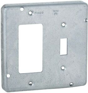 Raco 4 11 16 In Square Exposed Work Cover For 1 gfci And 1 toggle Switch