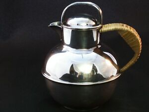 Silverplate Hemp Wrapped 5 1 2 Teapot E G Webster New York 1930 S