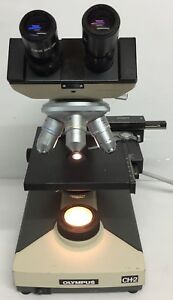 Olympus Ch 2 Cht Microscope With Cwhk10x 18l Ea100 Ea40 Ea10 1 25 Condenser