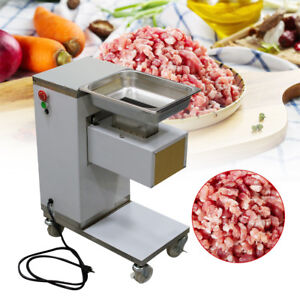 usa 110v Stainless Commercial Meat Slicer Cutting Machine Cutter 500kg h 3mm
