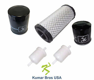 New Kubota Filter Kit Air fuel oil hyd Bx22 Bx23 Bx24 Bx25 Bx25dlb Bx2200