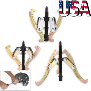 3pcs 3 Jaw Gear Pulley Bearing Puller Set 3 4 6 Small Leg Large Mechanics Us