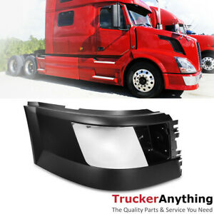 04 15 Volvo Vnl Truck Side Bumper End Right Passenger Extension With Fog Light