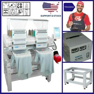 Basic Package 02 Heads 15 Colors Camfive Emb Ht1502 Double Embroidery Machine