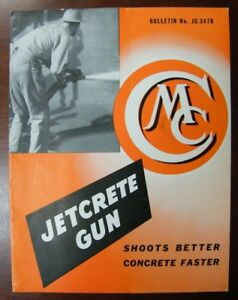Vtg Jetcrete Concrete Gun Brochure Cms Construction Machinery Sales Co Waterloo