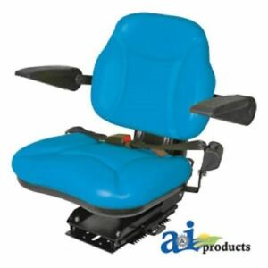 Big Boy Suspension Seat Blue W arm Rests For Ford Tractor New Holland Farm re