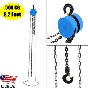 500kg Pulley Chain Block Chain Hoist Cable Hand Control Pulley Crane 2 5m