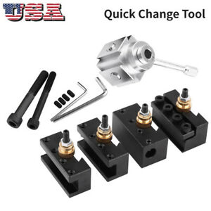 High Precision Aluminum Alloy Quick Change Mini Lathe Tool Post And Holder Kit