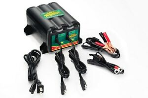 New Deltran 12v 12 Volt Battery Tender Plus 2 Bank Battery Charger Maintainer
