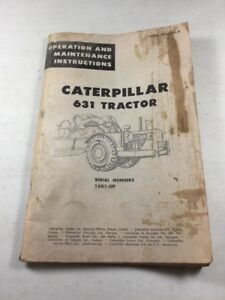 Caterpillar 631 Tractor Scraper Operation And Maintenance Manual