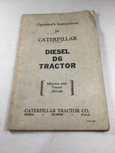 Caterpillar D6 Tractor Operators Manual