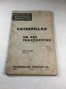 Caterpillar 933 Traxcavator Operation And Maintenance Manual