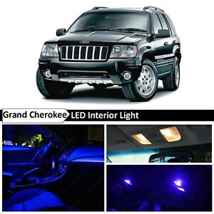 18x Blue Interior Led Lights Package Kit Fit 1999 2004 Jeep Grand Cherokee Wj