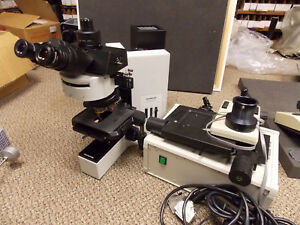 Olympus Bx60m Metallurgical Trinocular Microscope W Manual And Motorized Stage
