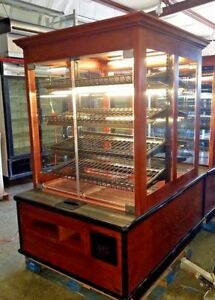 Marco Double Sided Glass Door Wood Bakery Donut Bread Dry Display Show Case