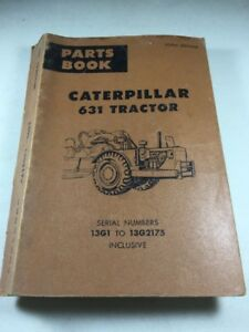 Caterpillar 631 Tractor Scraper Parts Book
