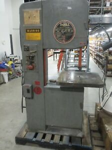 Used Doall Model 2013u 20 Vertical Band Saw W Welder