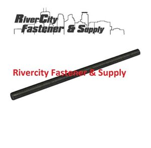 6 M10 1 25 Or 10mm Or M10 Or 10 Millimeter Fine Thread All Threaded Rod Black