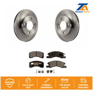 Front Disc Rotors Ceramic Brake Pads Fits 2014 2015 Mitsubishi Mirage