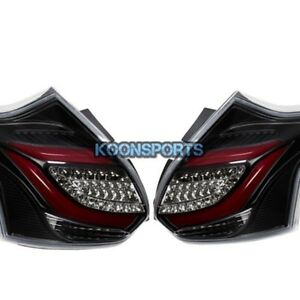 2012 2014 Ford Focus St Hatchback Led Tail Light Rear Lamp Red Black Clear Lens