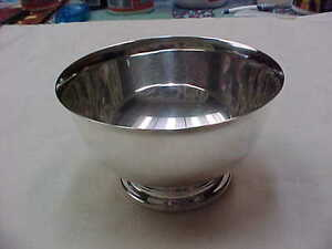 Sterling Silver Paul Revere Bowl Diameter 4 1 4 Not Weighted 123 8 Grams