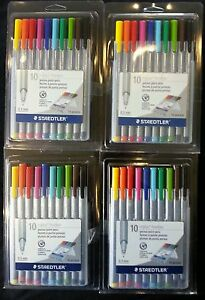 Staedtler Triplus Fineliner Porous Point Pens 0 3mm Assorted Colors 10pack X4