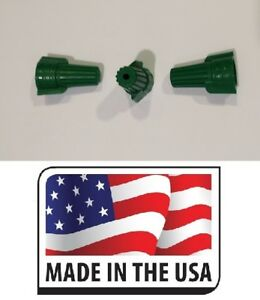 1000 Pc Green Double Winged Twist Nut Wire Connectors Grounding Made In Usa Ul