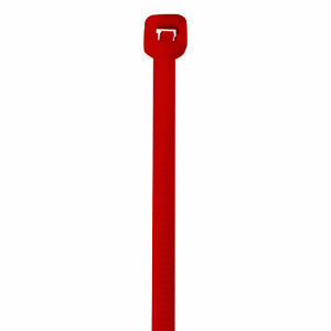 Box Partners Colored Cable Ties 40 8 Red 1000 case Ct444b