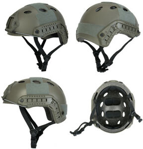 Lancer Tactical Basic Version PJ Type Airsoft Helmet in Foliage Green ATH FAST