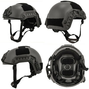 MilSim Maritime FAST Tactical Advanced Helmet Med Large with Accessories in Gray