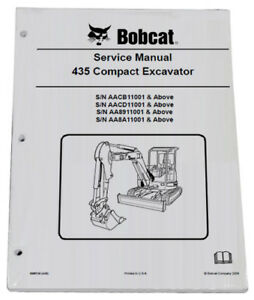 Bobcat 435 Compact Excavator Service Manual Shop Repair Book 2 Part 6986749