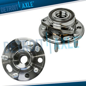 Pair Front Rear Wheel Bearing Hub For 2013 2014 2015 Cadillac Xts Chevy Malibu