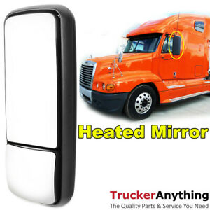 Heated Mirror Assy 05 11 Freightliner Century Left Driver Manual Rear View Black