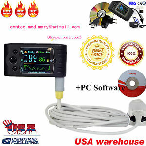 Usa Handheld Pulse Oximeter Spo2 Monitor veterinary blood Oxygen cms60c software