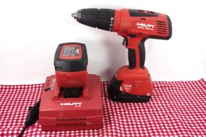 Hilti Sfh 181 a Cordless Hammer Drill Driver Used Works W C7 24 Charger 1 2