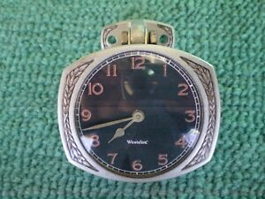 Restored Vintage Westclox Antique Car Clock Black Face Model A T Ford Works