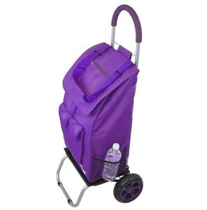 Trolley Dolly Purple Shopping Grocery Foldable Cart