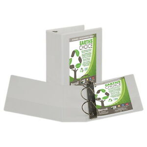 Earth s Choice Eco friendly View Binder 5 Inch D ring White 8 1 2 X 11 Inches