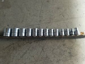 Snap on 3 8 Drive Metric Socket Set 13 8 20mm Shallow 6 point And 12 Point